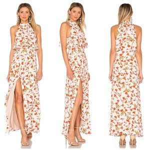 Lovers and Friends Maxi Dress Golden Ray Maxi Palm